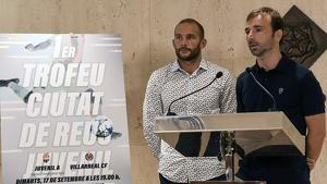 Josep Cuerba (Ajuntament) i Xavi Castro (Fundació) durant la presentació del torneig