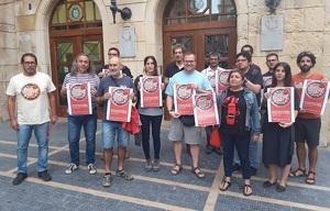 Membres de l'esquerra independentista del Baix Penedès.
