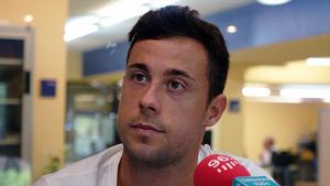 Pedro Martín durant l'entrevista al Sempre Nàstic de Tarragona Ràdio