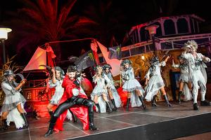 Un moment de l'espectacle inaugural de 'La Isla Maldita'.