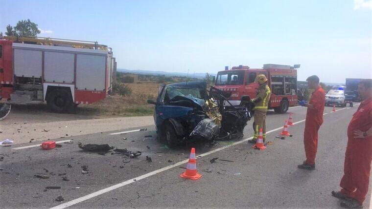 Imatge de l'accident mortal al Pla de Santa Maria