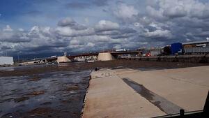 Així estava el Port de Tarragona el matí després dels aiguats