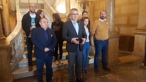 Declaració institucional de Pau Ricomà a l'Ajuntament de Tarragona pels aldarulls de la nit de dimarts