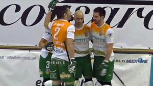 El Calafell celebrant l'1-2 d'Àngel Rodríguez