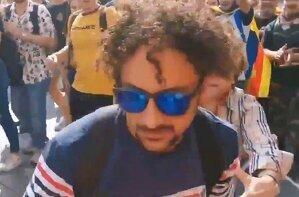 El presumpte agressor, Joan Leandro Ventura, en una captura del video dels fets d'aquest matí de dilluns, 14 d'octubre.