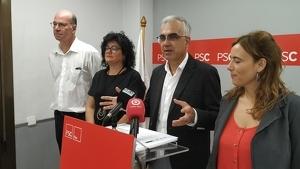 Hèctor Fort, Anabel Martínez, Andreu Martín i Sandra Guaita, integrants del grup municipal del PSC