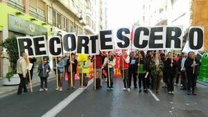 Imatge d'arxiu d'una manifestació de Recortes Cero.