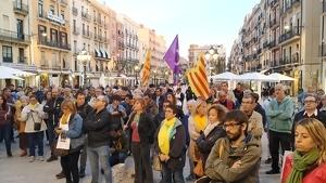 Imatge de la concentració, a la plaça de la Font de Tarragona