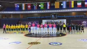 Imatge de la prèvia del primer partit entre Sud-Àfrica i Austràlia