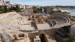 Imatge de l'Amfiteatre de Tarragona, aquest dijous al migdia.
