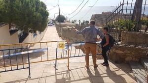 Imatge del portaveu del govern municipal, Xavi Puig, a les Escales del Miracle.