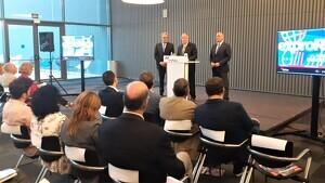 Josep Gonzàlez, Carles Pellicer i Jordi Just han inaugurat la 49a exproReus