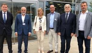 Josep Sánchez Llibre, amb Neus Lloveras, Carles Grasas i Santi Carda, a Idiada.