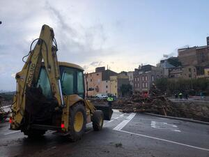 Recull d'imatges dels efectes del temporal a la Conca de Barberà