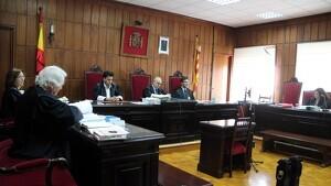 La sala de vistes de l'Audiència de Tarragona on s'ha fet la vista per la temptativa d'assassinat a Arbolí