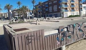L'estació de bombeig que hi ha a la platja de Sant Salvador.