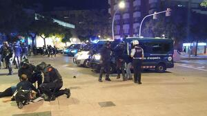Manifestant ferit a Tarragona