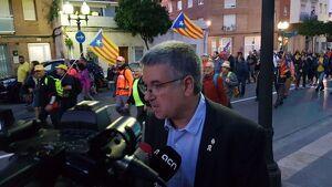 Pau Ricomà ha participat en la Marxa de la Llibertat que ha sortit des de Tarragona.