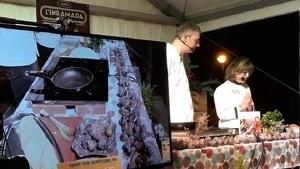 Un dels 'show cookings' de l'edició del 2018 de l'Enramada.
