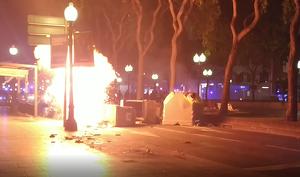 Una barricada amb una bombona de gas ha explotat al mig de Tarragona