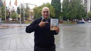 Xavier Bosch, aquest passat dimarts, a la plaça Imperial Tàrraco.