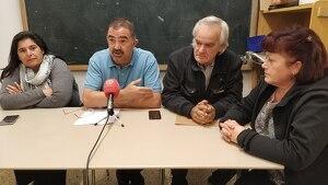 D'esquerra a dreta, Esperanza Torrijos, Valentín Rodríguez i Eduardo Navas van encapçalar Entre Veïns a les eleccions