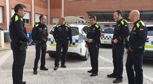 Diversos agents de la policia local de Cunit.