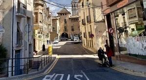El carrer de les Quatre Fonts del Vendrell.