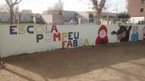 El pati de l'escola Pompeu Fabra de Cunit.