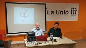 Esteve Torres i el president de l'AVV La Unió, Gabriel Muniesa, han presentat les demandes veïnals de SPiSP.