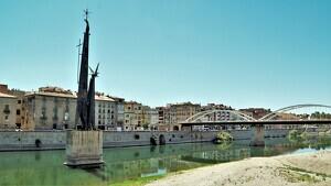 Imatge d'arxiu del monument franquista de l'Ebre, a Tortosa