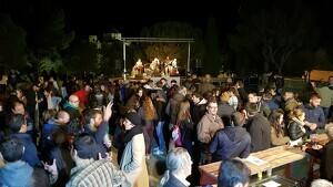 Imatge d'arxiu d'una nit de revetlla de la Festa Major d'Altafulla.
