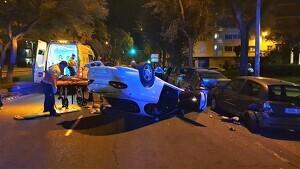 Imatge de l'accident d'aquesta matinada a Reus