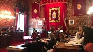 Imatge del consell plenari d'aquest divendres a l'Ajuntament de Tarragona.