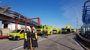 Imatge del simulacre al Port de Tarragona