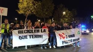 Imatge dels manifestants, aquesta tarda a Tarragona
