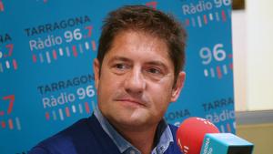 Lluís Fàbregas en l'entrevista al Sempre Nàstic d'aquest migdia