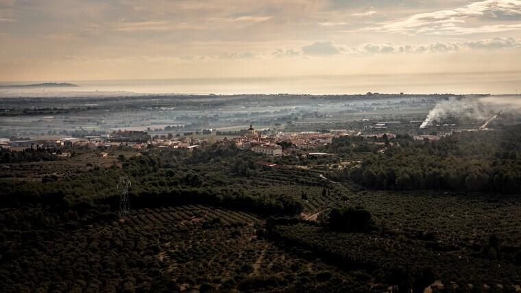 Imatge de Mont-roig del Camp des de l'ermita de la Mare de Déu de la Roca