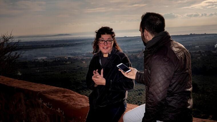L'Eva Guillén és l'ermitana de l'ermita de la Mare de Déu de la Roca, a Mont-roig del Camp