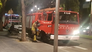 Els Bombers de la Generalitat durant una actuació a Tarragona