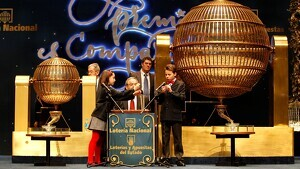 Imatge del sorteig de la Loteria de Nadal