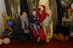 Altafulla durant el parc de Nadal els nens in nenes entreguen les cartes als patges dels Reis d'Orient!