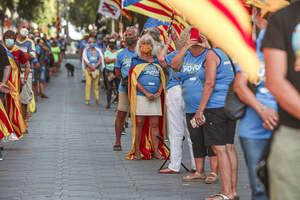 Les concentracions a Reus i TGN per la Diada de l'11-S 2020 en imatges