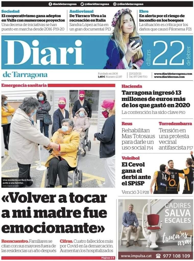 Diari de Tarragona, 22 de febrer de 2021