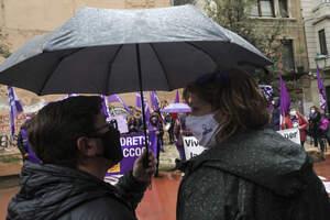 Imatges dels actes reivindicatius durant el matí del 8M 2021 a Tarragona