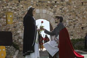 Mercat medieval i mostra d'oficis i entrega de la rosa al Montblanc medieval