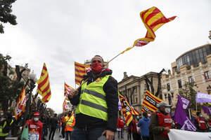 1-M 2021: La concentració estàtica dels sindicats a Tarragona en imatges