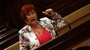 Hortènsia Grau en una de les seves intervencions al Parlament de Catalunya.