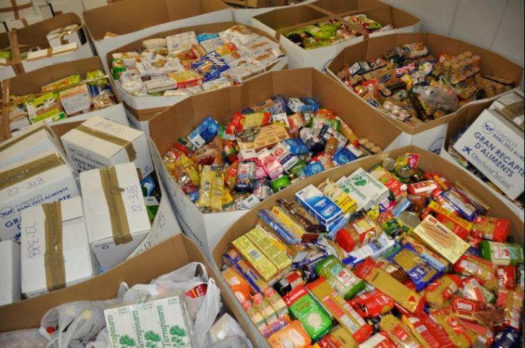 Una imatge de la recol·lecta que es fa al Banc dels Aliments.