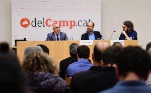 Peris, Vila i Ramos-Salvat, durant la presentació de l'anuari de 2016